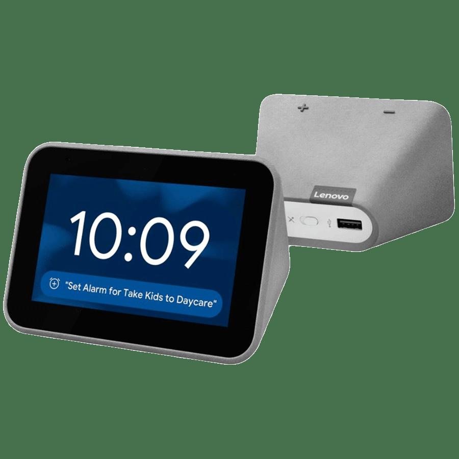 Lenovo Smart Clock with Google Assistant (CD 24501F, Grey)