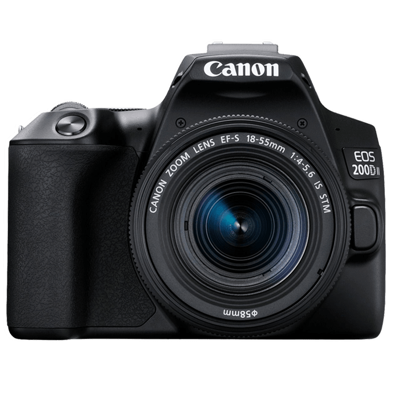 Canon 24.1 MP DSLR Camera Body with 18 - 55 mm & 55 - 250 mm Lens (EOS 200D II, Black)