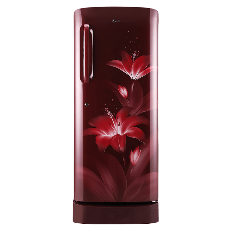 LG 235 Litres 4 Star Direct Cool Inverter Single Door Refrigerator (Toughened Glass Shelves, GL-D241ARGY, Ruby Glow)
