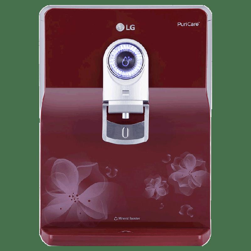 LG PuriCare RO UV Water Purifier (WW172EP, Red)