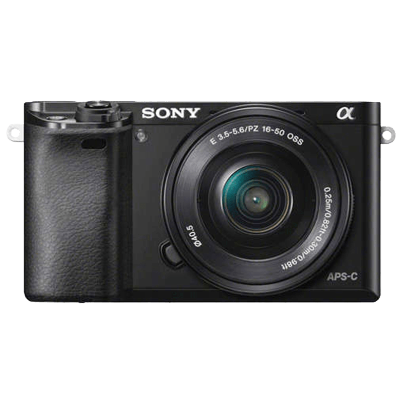 Sony 24.3 MP Mirrorless Camera Body with 16 - 50 mm Lens (ILCE-6000L, Black)