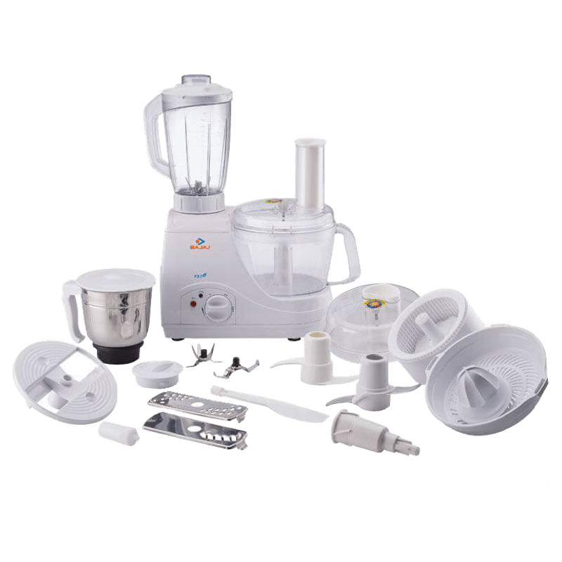Bajaj 600 Watt Food Processor (FX 7, White)