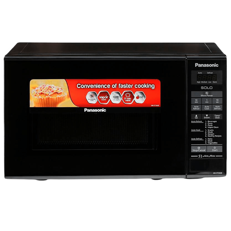 Panasonic 20 Litres Solo Microwave Oven (Digital Control, NN-ST266BFDG, Black)