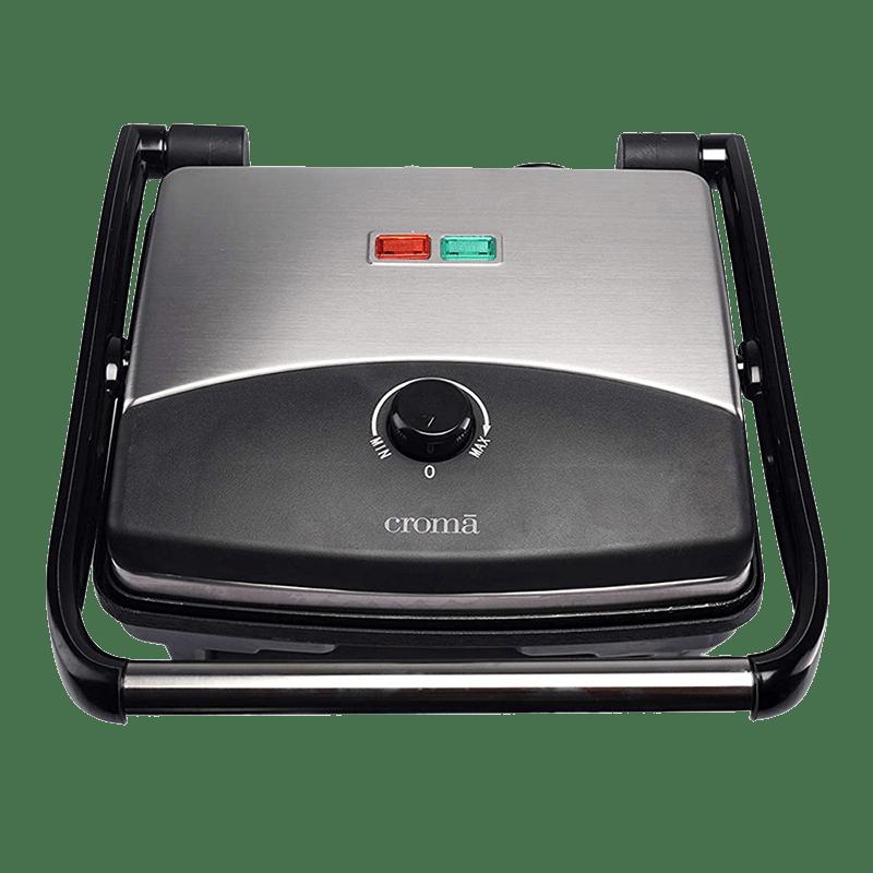 Croma 1500 Watt 4 Slice Griller (CRAO0050, Black)