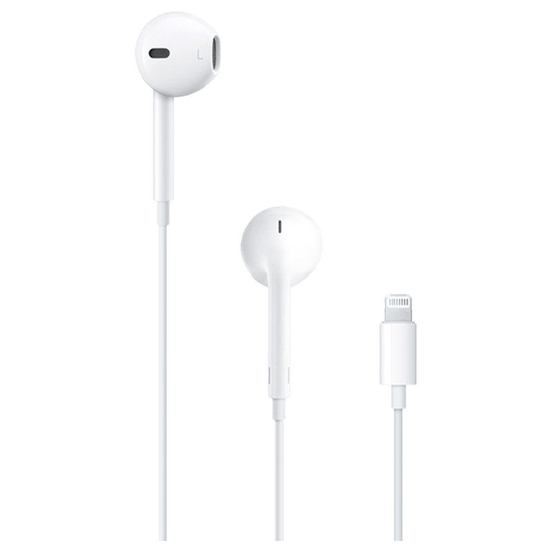 Apple Earpods In-Ear Earphones with Mic (With Lighting Connector, MV7N2HN/A, White)