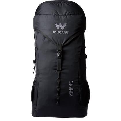 Wildcraft 45 Litres Trekking Backpack (Cliff 45_3 Black, Black)_1