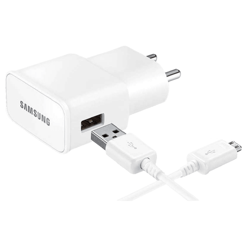 Samsung 2 Amp Wall Travel Adapter with Cable (EP-TA13IWEUGIN, White)