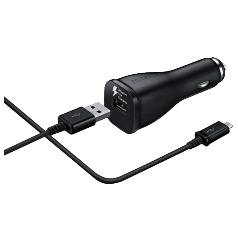 Samsung Adaptive Fast Charging Car Charger Adapter with Cable (EP-LN915UBEGIN, Black)
