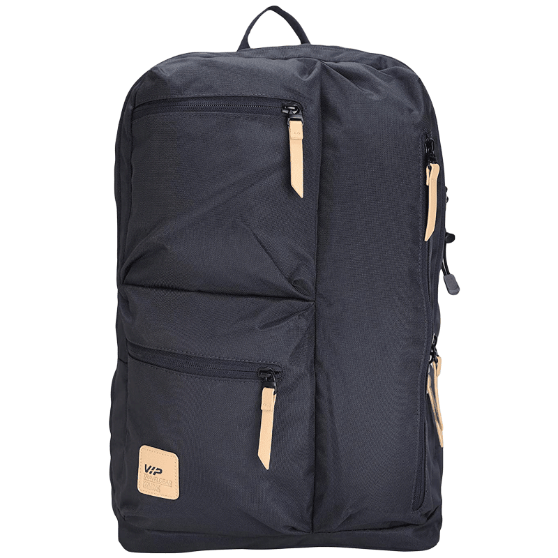 VIP Trot 01 19 Litres Polyester Casual Backpack (3 Front Pockets, BPTRO01BLU, Blue)