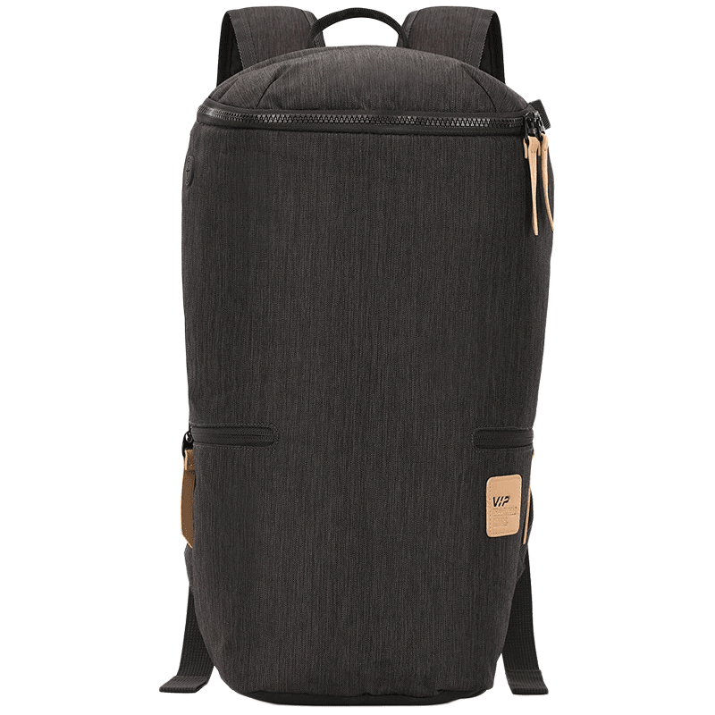 VIP Wander 02 19 Litres Polyester Casual Backpack (3 Pockets, BPWAN02GRY, Grey)