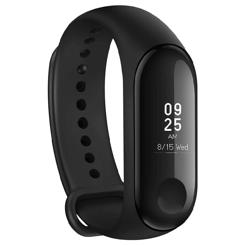 Xiaomi Mi Band 3 Fitness Tracker (19mm) (Water Resistant, MGW4039IN, Black, Plastic Band)