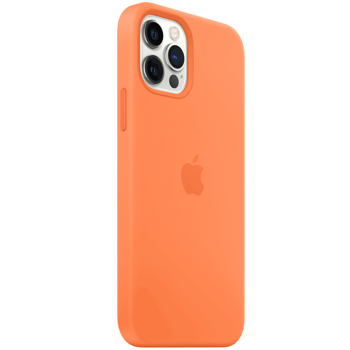 Apple Silicone Back Case For iPhone 12 Pro Max (Magsafe Charging Accessibility, MHL83ZM/A, Kumquat)_2