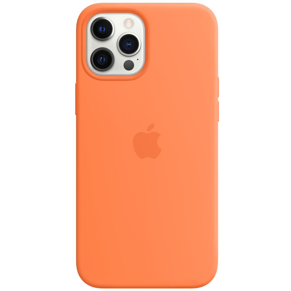 Apple Silicone Back Case For iPhone 12 Pro Max (Magsafe Charging Accessibility, MHL83ZM/A, Kumquat)_1