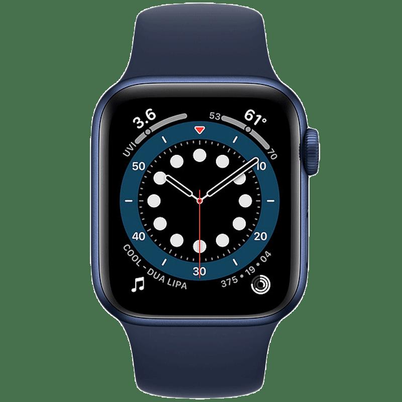 Apple Watch Series 6 Smartwatch (GPS, 40mm) (Blood Oxygen Sensor, MG143HN/A, Blue/Deep Navy, Sport Band)