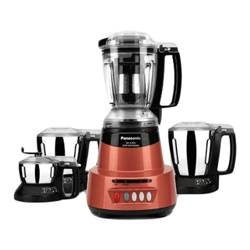 Panasonic 600 Watts 4 Jars Mixer Grinder (Child Lock, MX-AV425, Rustic Red)