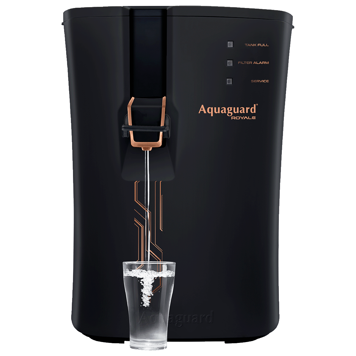 Eureka Forbes Aquaguard Royale RO+UV+MTDS Electrical Water Purifier (Active Copper Technology, Black)