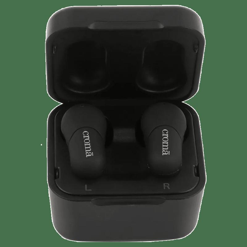 Croma True Wireless Earbuds (CREA7304, Black)