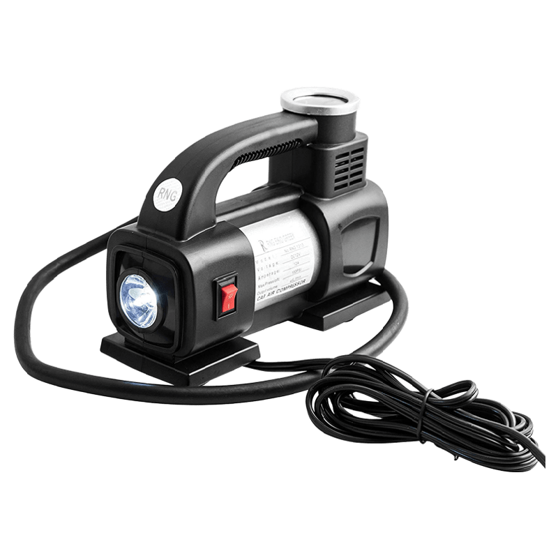 RNG Eko Green Heavy Duty Supersonic High Speed Tyre Inflator for Car/Bike with LED (RNG 1313, Black)_1