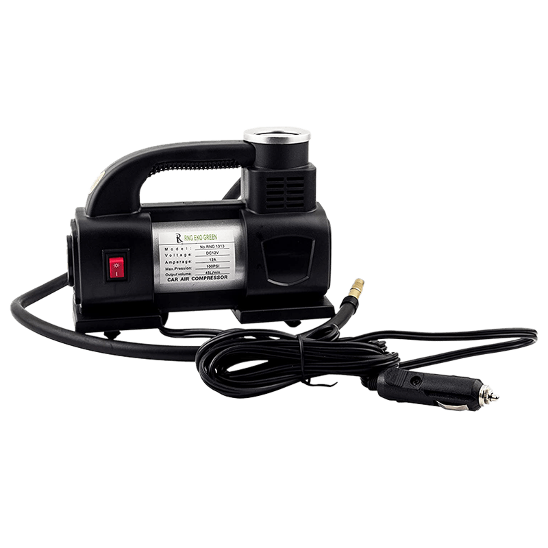 RNG Eko Green Heavy Duty Supersonic High Speed Tyre Inflator for Car/Bike with LED (RNG 1313, Black)_5