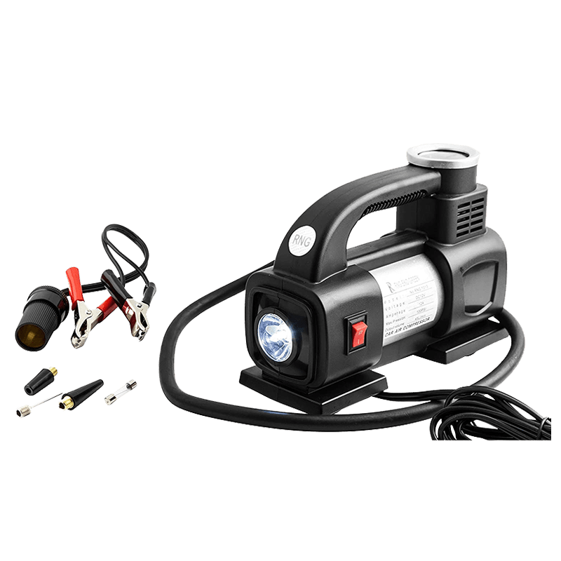 RNG Eko Green Heavy Duty Supersonic High Speed Tyre Inflator for Car/Bike with LED (RNG 1313, Black)_6