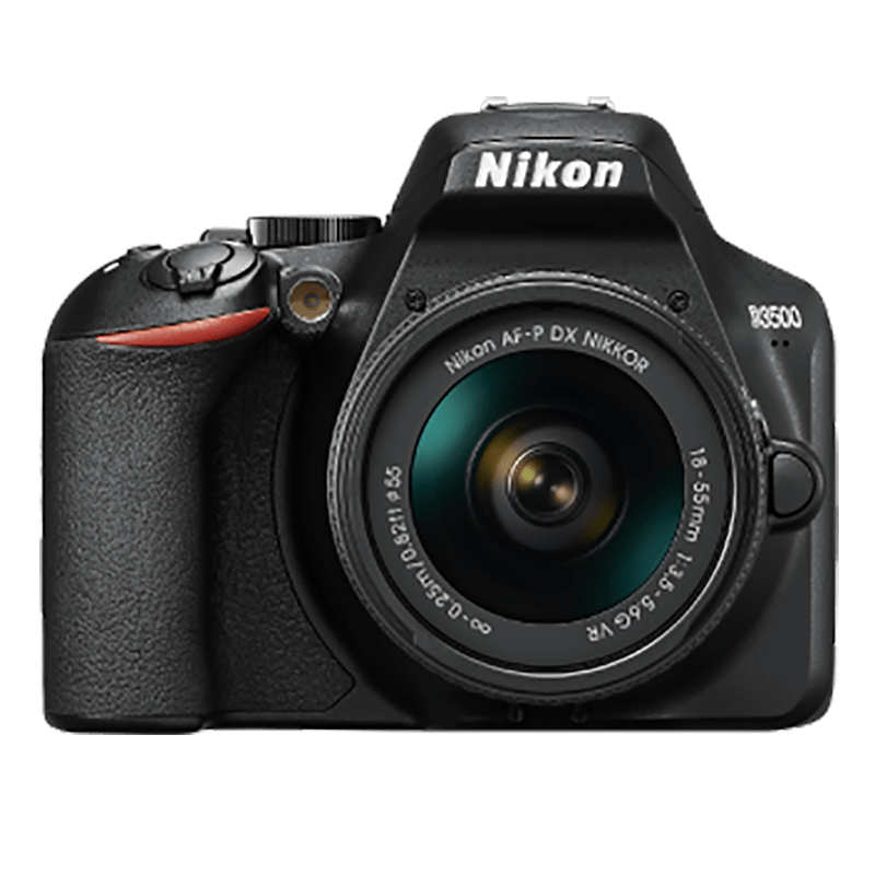 Nikon 24.2 MP DSLR Camera Body with 18 - 55 mm & 70 - 300 mm Lens (D3500, Black)