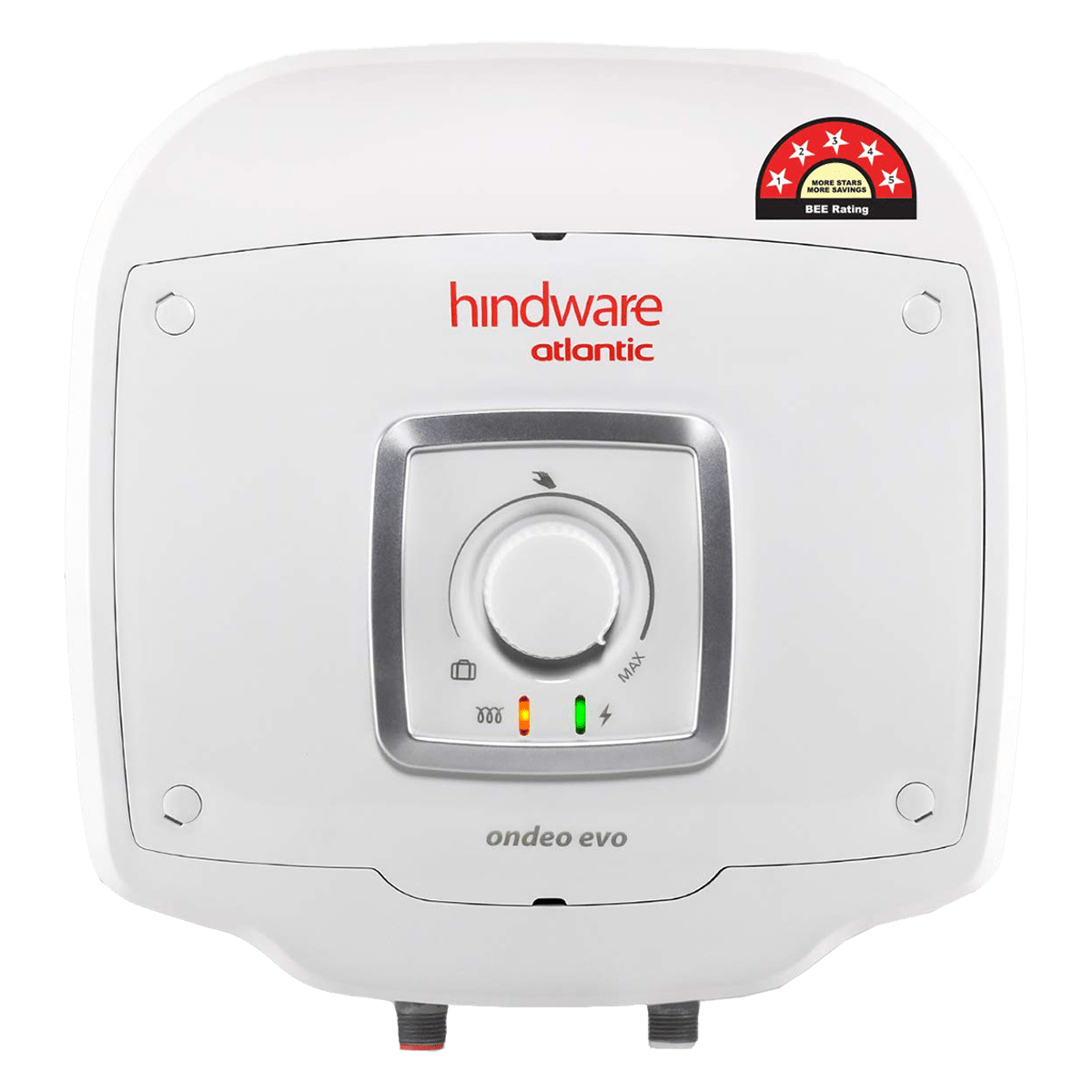 Hindware Atlantic Ondeo Evo 10 Litres 5 Star Rating Storage Water Heater (240 Watts, SWH 10A-2 M-2, White)