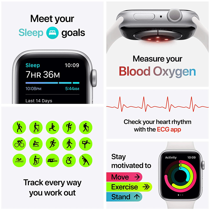 Apple Watch Series 6 Smartwatch (GPS+Cellular, 40mm) (Blood Oxygen Sensor, M06P3HN/A, Space Grey/Black, Sport Band)_8