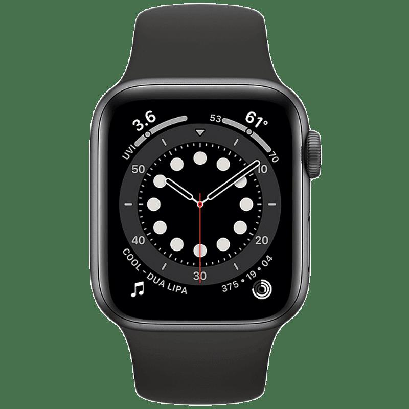 Apple Watch Series 6 Smartwatch (GPS+Cellular, 40mm) (Blood Oxygen Sensor, M06P3HN/A, Space Grey/Black, Sport Band)