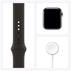 Apple Watch Series 6 Smartwatch (GPS+Cellular, 40mm) (Blood Oxygen Sensor, M06P3HN/A, Space Grey/Black, Sport Band)_6