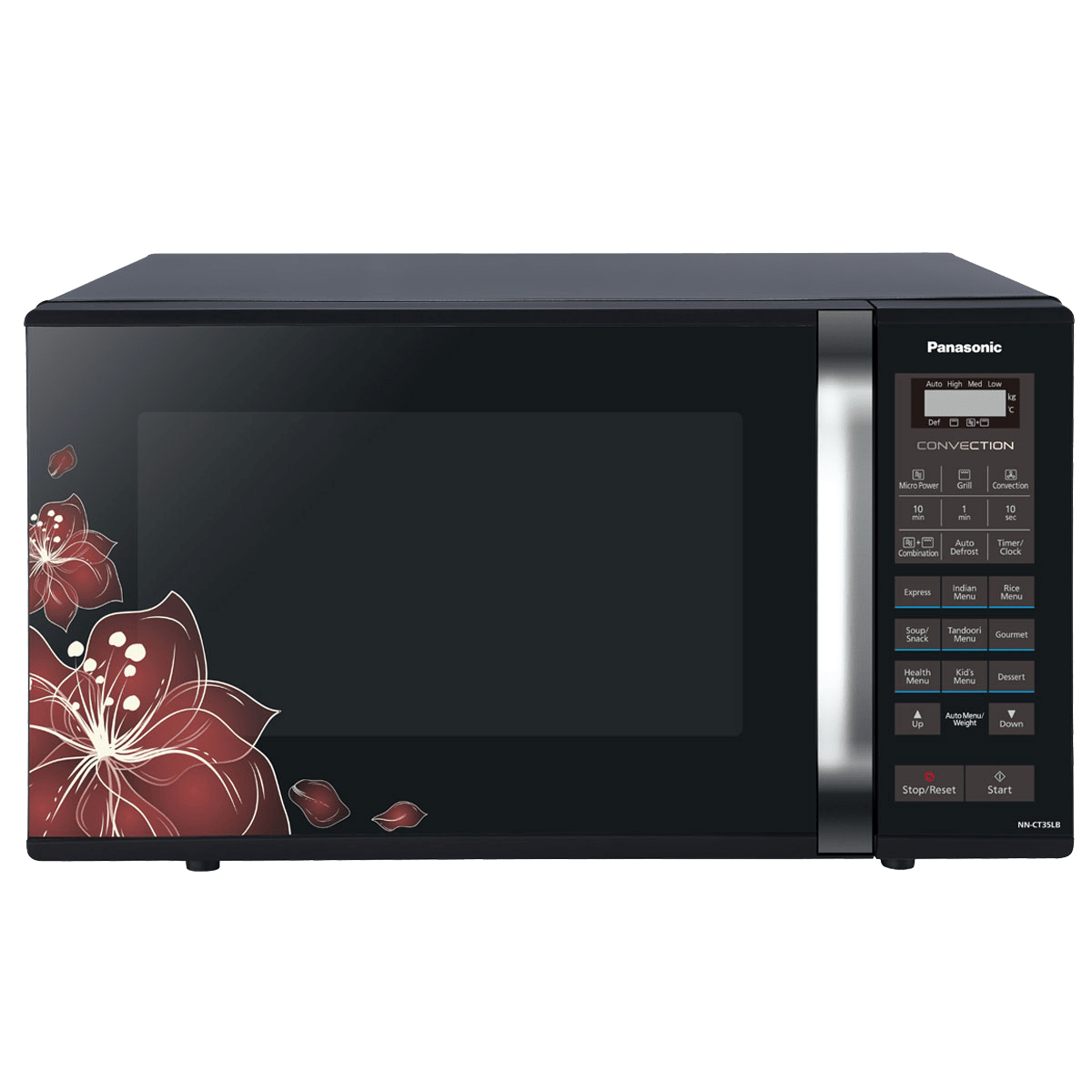 Panasonic 23 Litres Convection Microwave Oven (360° Heat Wrap, NN-CT35LBFDG, Black Floral)
