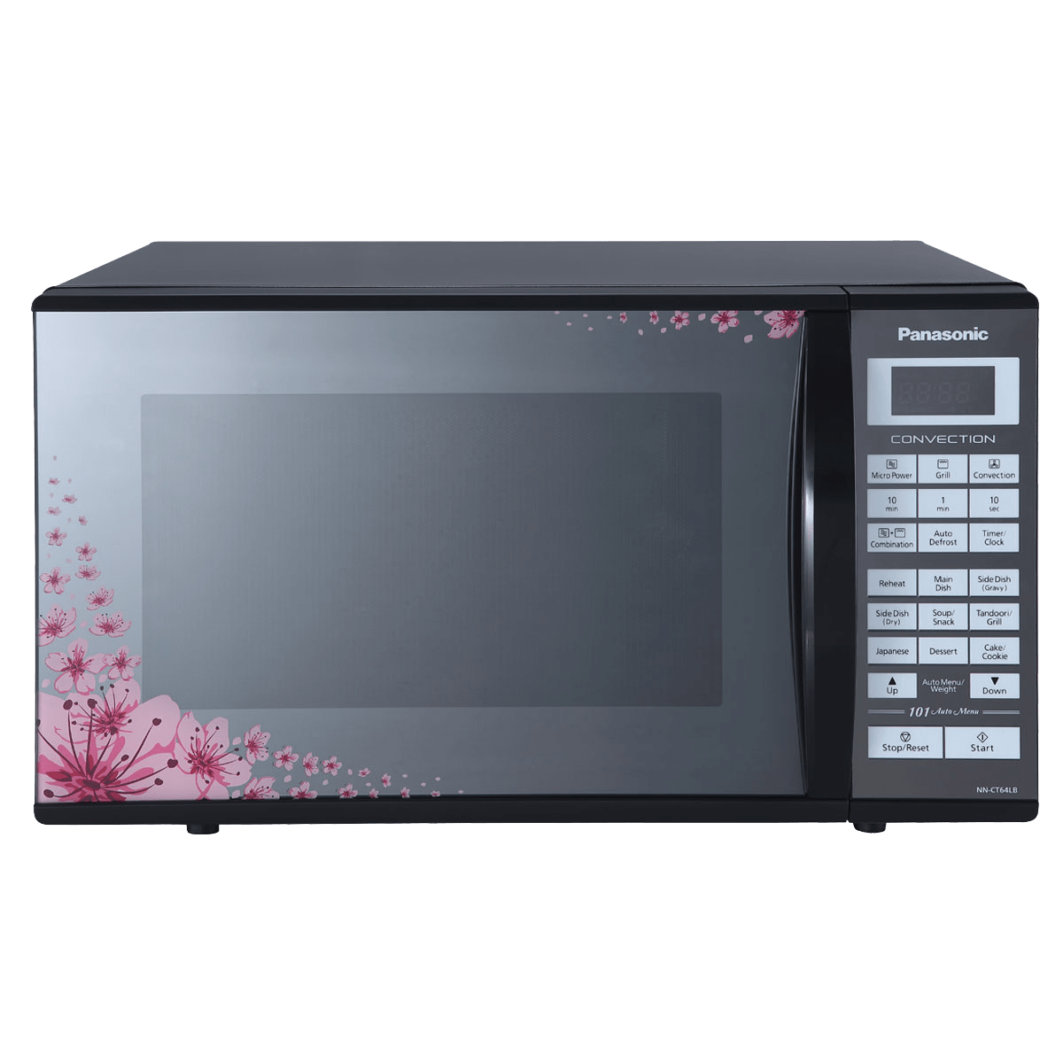 Panasonic 27 Litres Convection Microwave Oven (Floral Mirror Finish, NN-CT64LBFDG, Floral Mirror Finish)