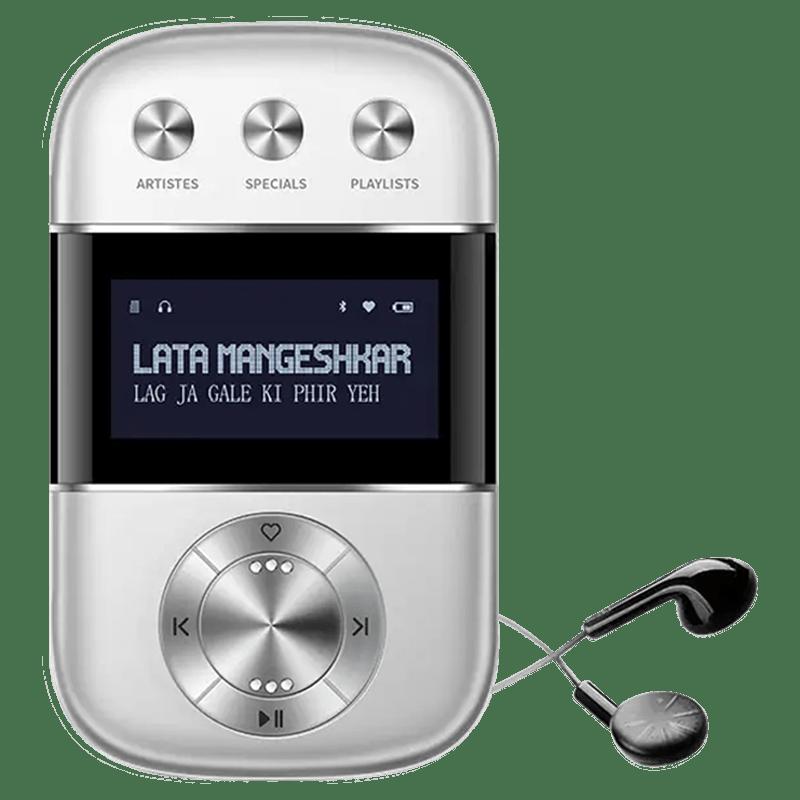 Saregama Carvaan Go Digital Audio Player (GO0001, Silver)