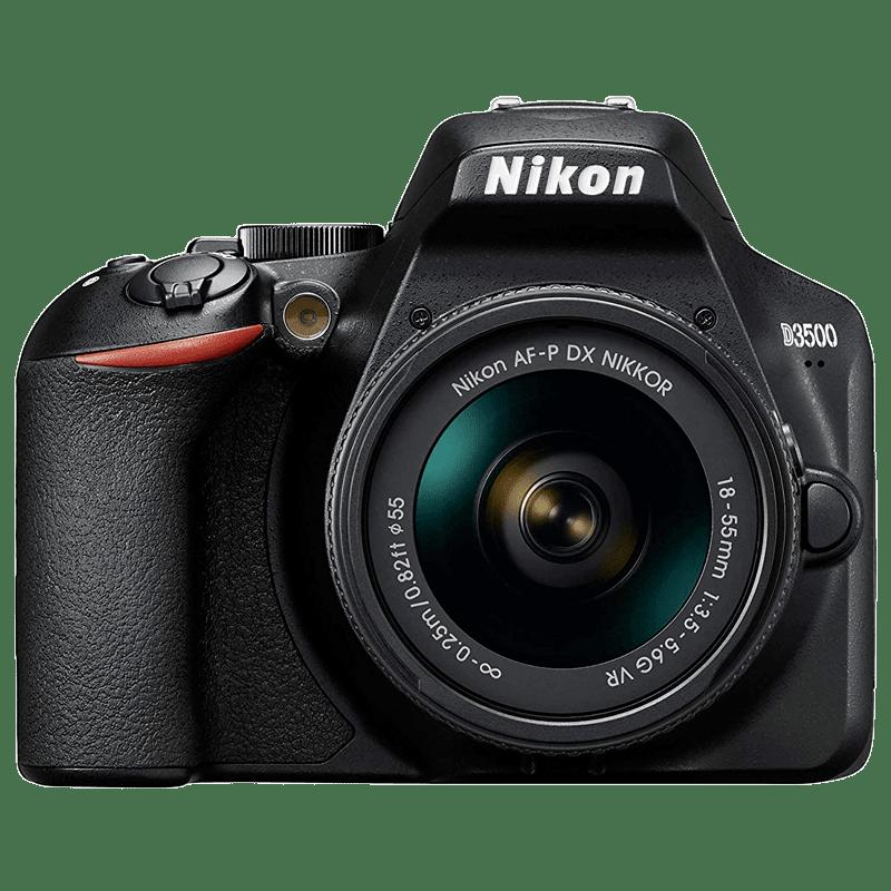 Nikon 24.2 MP DSLR Camera Body with 18 - 55 mm Lens (D3500, Black)