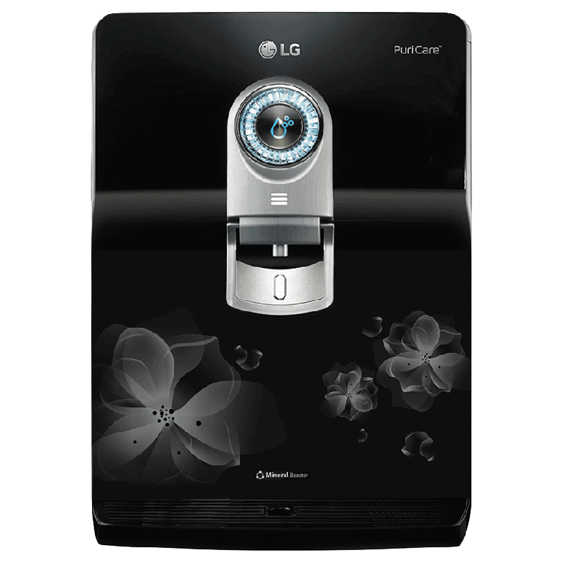 LG PuriCare RO+ UV+UF Water Purifier (182 EP, Black)
