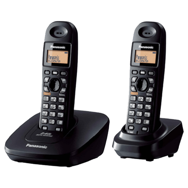 Panasonic Duo Cordless Phone (TG3612BX, Black)