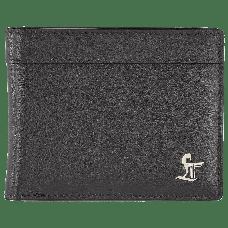 Leather Talks Smart Wallet (LT/SR/005, Black)