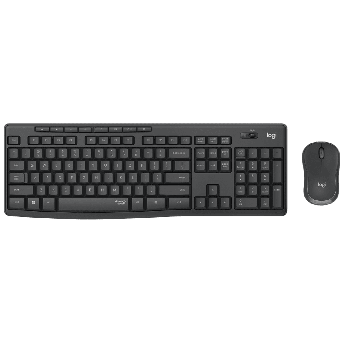 Logitech Wireless Keyboard and Mouse Combo (Less Noise, MK295 Silent, Black)