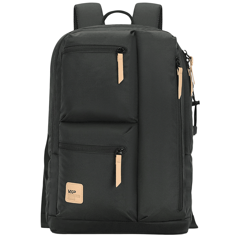 VIP Trot 02 19 Litres Polyester Casual Backpack (3 Front Pockets, BPTRO02RSN, Rosin)