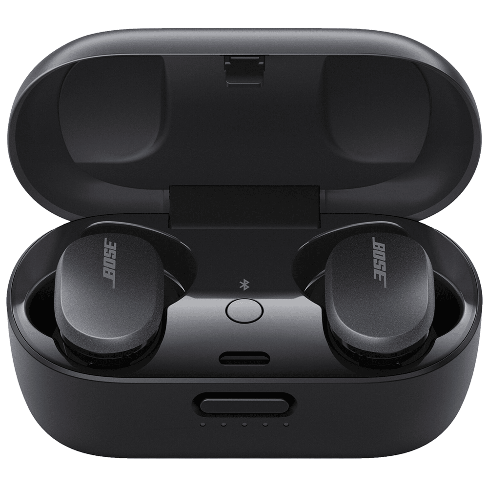 Bose QuietComfort In-Ear Truly Wireless Earbuds with Mic (Bluetooth 5.1, Sweat and Weather Resistant, 831262-0010, Triple Black)