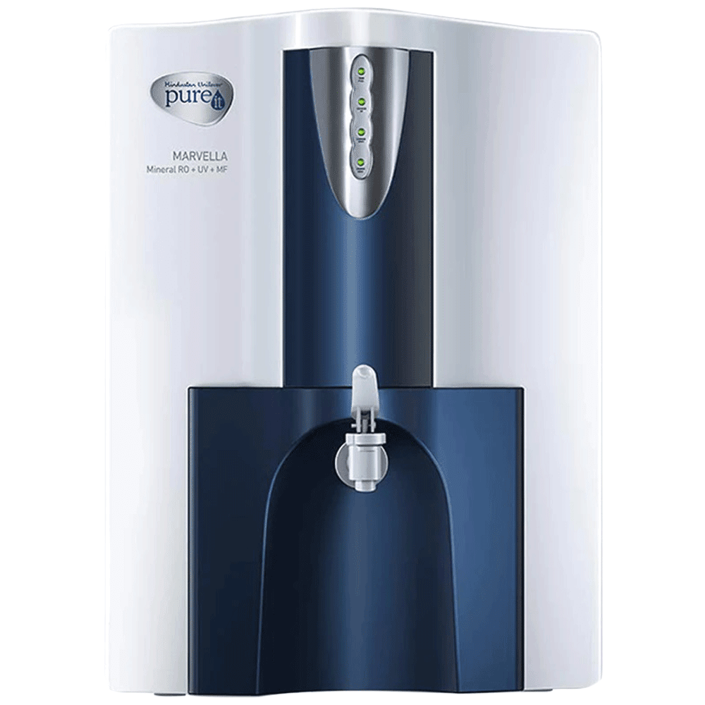 Pureit Marvella Eco RO+UV Electrical Water Purifier (7 Stage Purification, WPNT500, White and Blue)