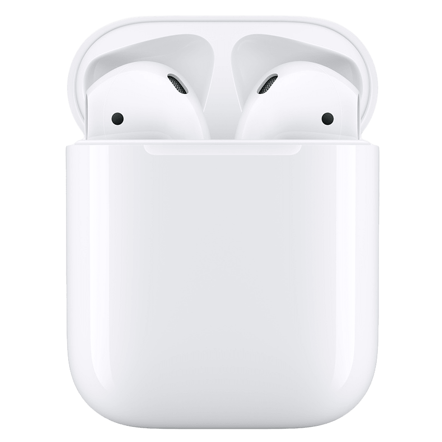 Apple Airpods In-Ear Truly Wireless Earbuds with Mic (Bluetooth 5.0, Charging Case, MV7N2HN/A, White)