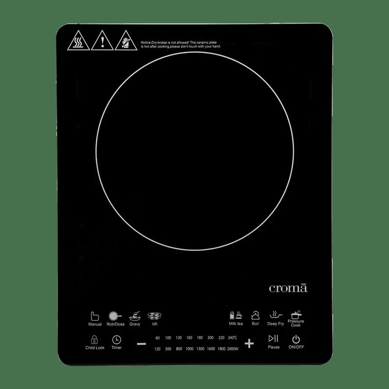 Croma Crag0140 1 Burner Induction Cooktop (Black)