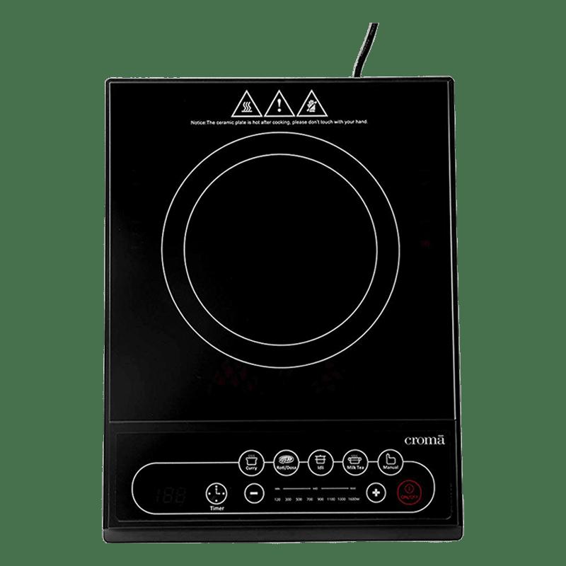 Croma Crag0141 1 Burner Induction Cooktop (Black)