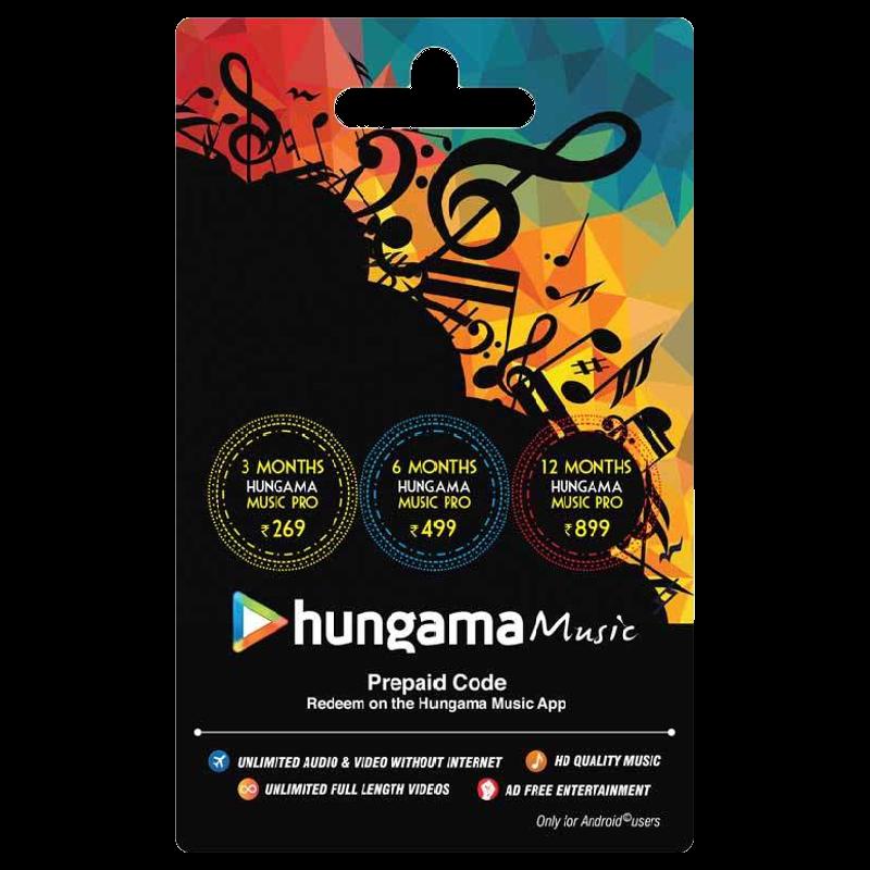 Hungama Music Prepaid Code - INR 269