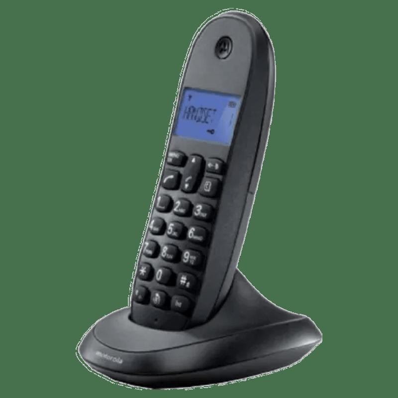 Motorola Wireless Phone (C1001LBI, Black)