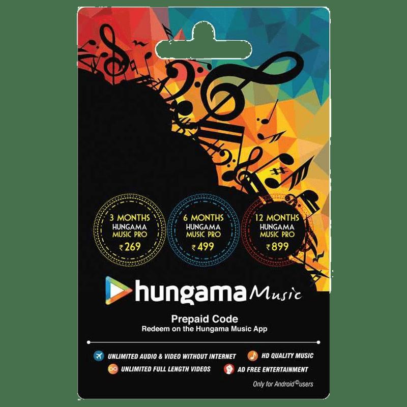 Hungama Music Prepaid Code - INR 899