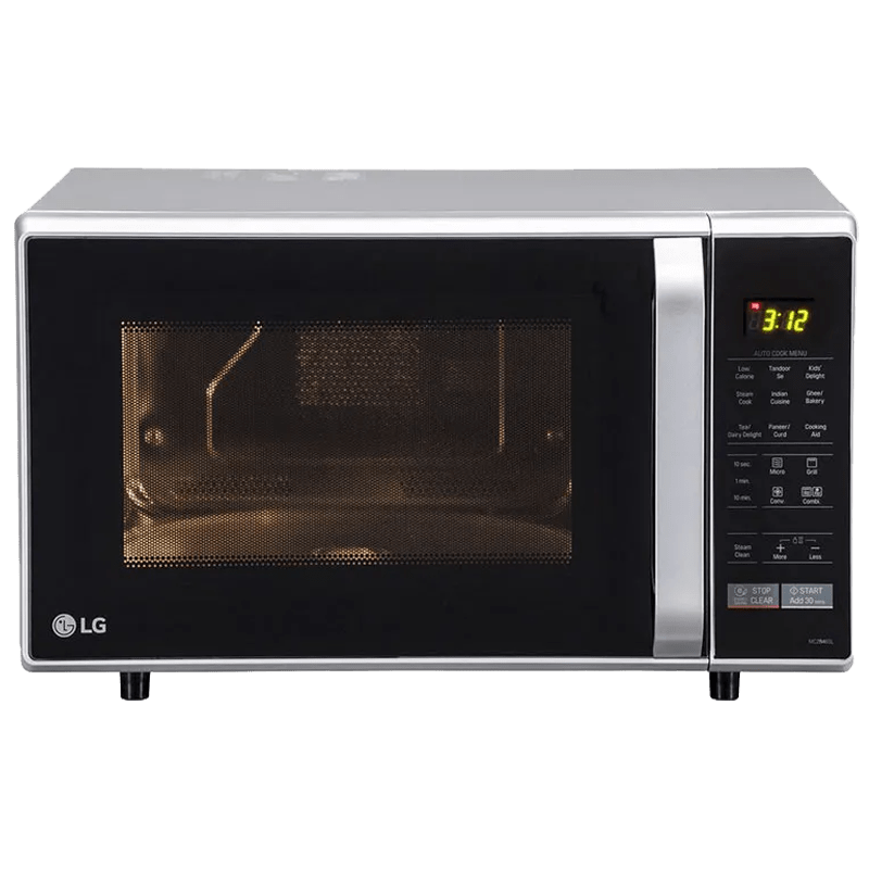 LG 28 Litres Convection Microwave Oven (MC2846SL, Silver)