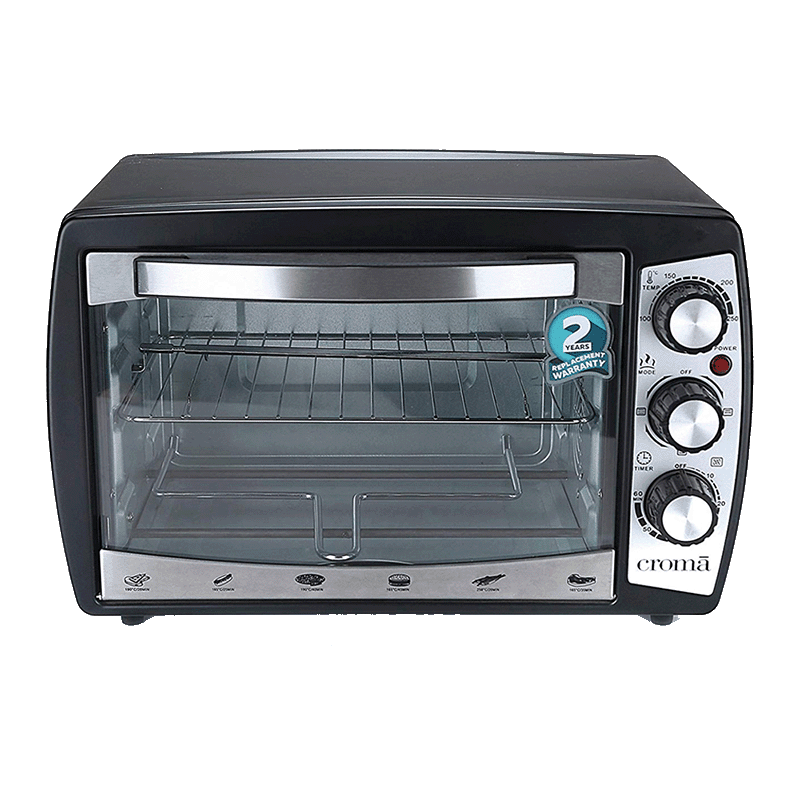 Croma CRAO0061 18 Litre Oven Toaster and Grill (Black)