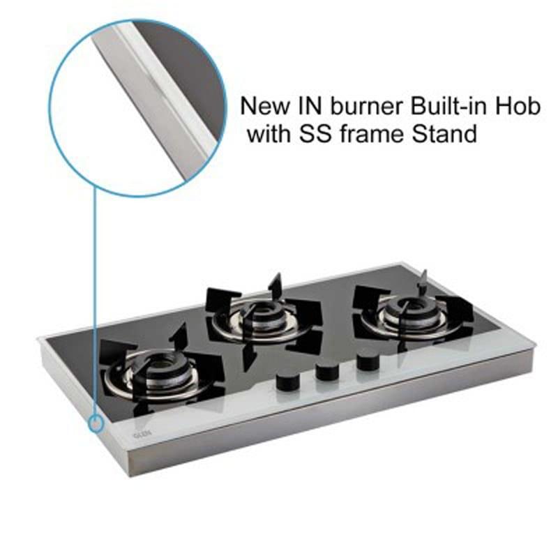 Glen Bh 1073 FINBW 3 Burners Built In Hob (Black/Silver)_3