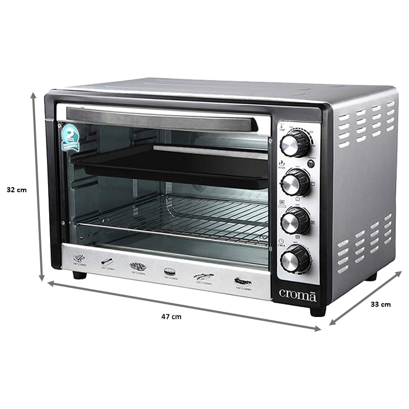 Croma 48 Litres CRAO0063 Oven Toaster Griller (Black)_3